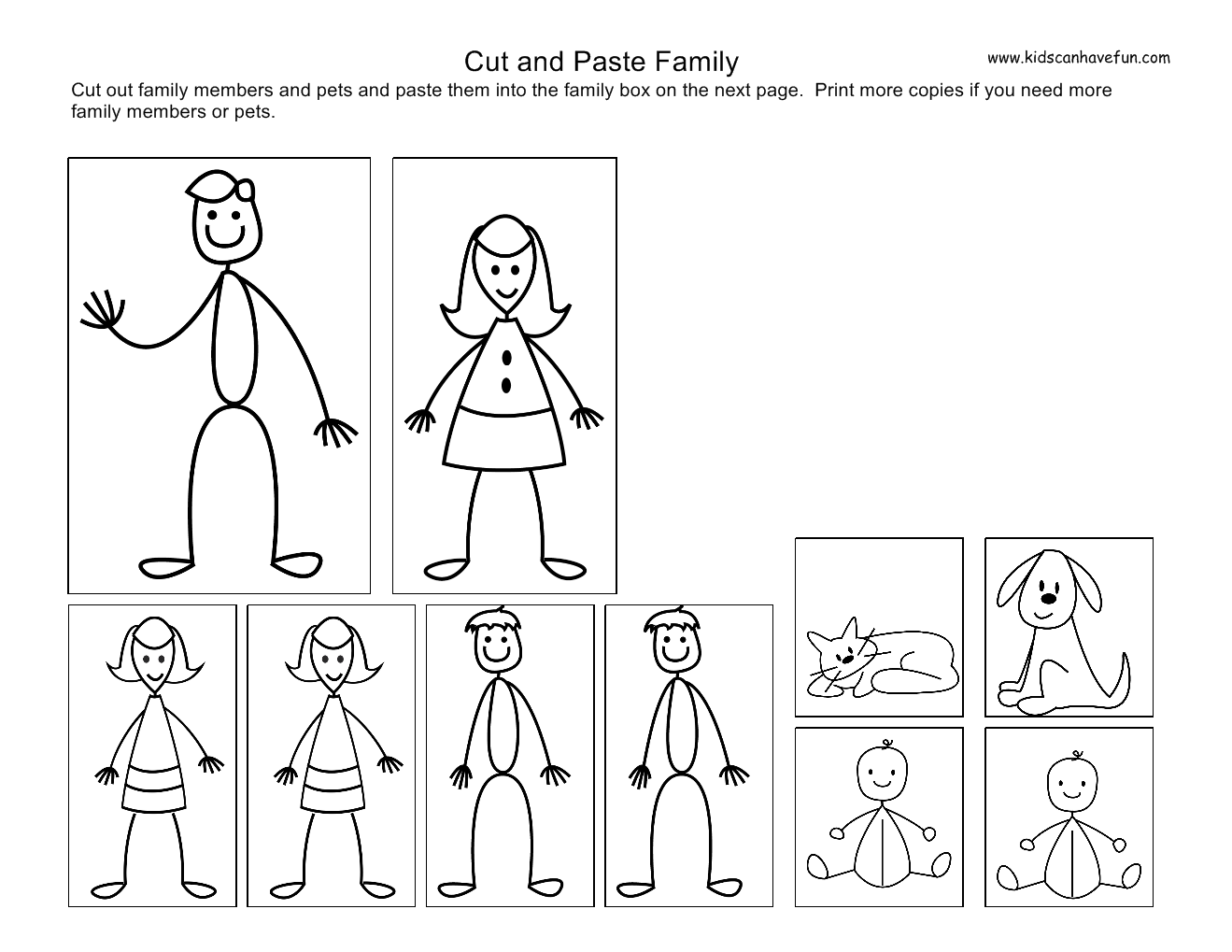 4 Images of Preschool Family Printables