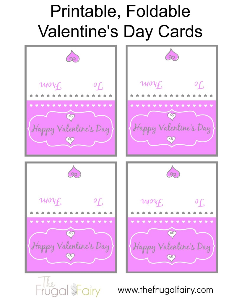 5 Images of Free Printable Foldable Cards
