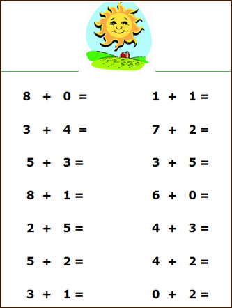 math worksheet : 6 best images of addition simple printable math worksheets  : Math Addition Worksheet