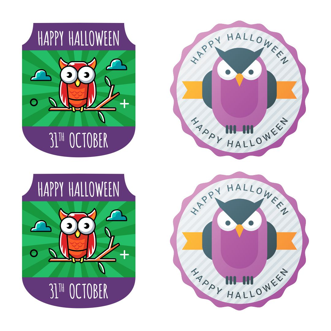 Owl Printable Halloween Tag