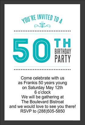 8 best images of free printables for 50th birthday 50th for Template for 50th birthday invitations free printable
