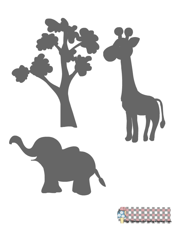 4 Images of Baby Elephant Stencils Printable