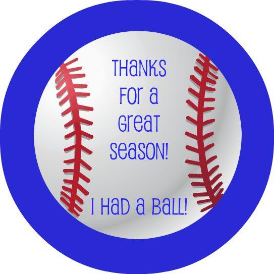 8 Images of Free Baseball Printable Thank You