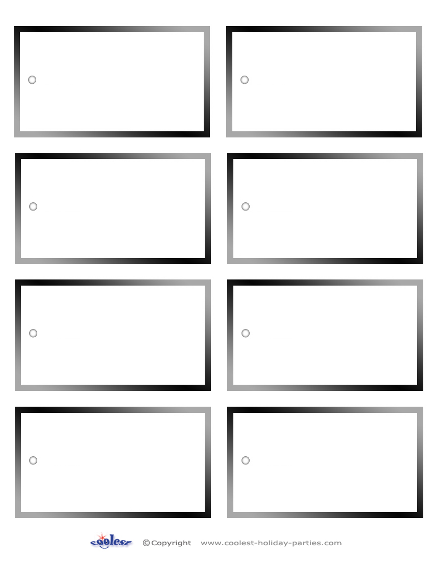 7 Images of Free Printable Blank Name Tags