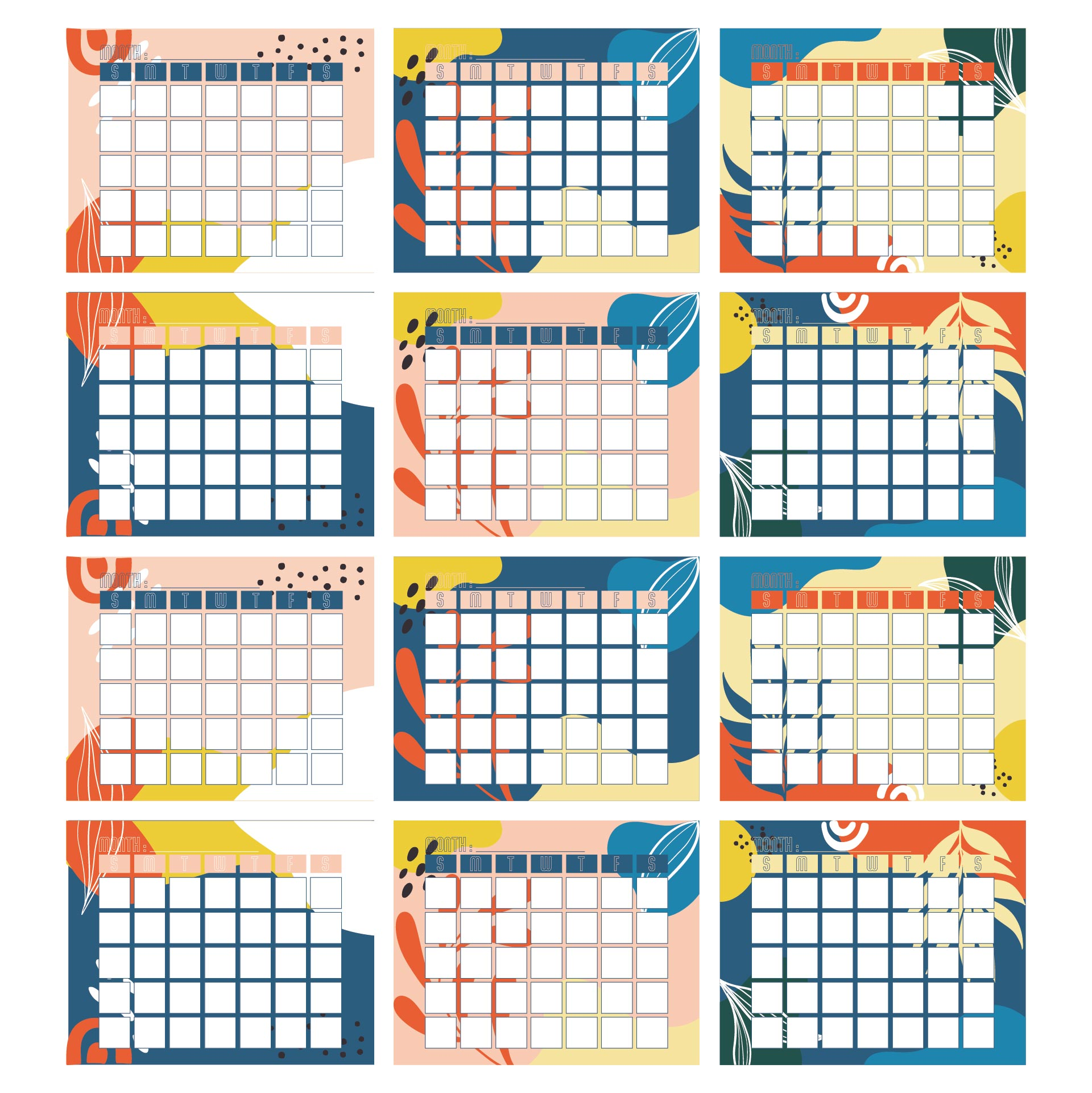 7 Images of Kindergarten Monthly Calendar Printable
