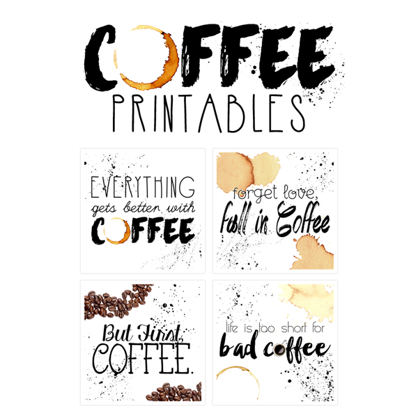 6 Images of Free Printable Coffee Art