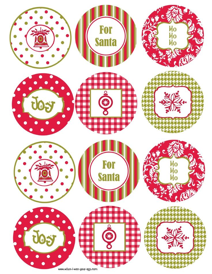 8 Images of Free Printable Christmas Cupcake