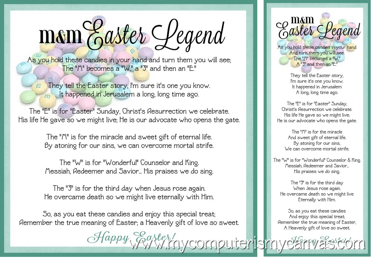 5 Images of Free Printable M M Easter Poem