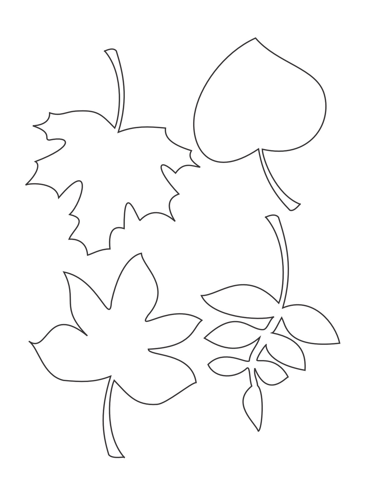 8 Images of Free Printable Leaf Patterns Designs