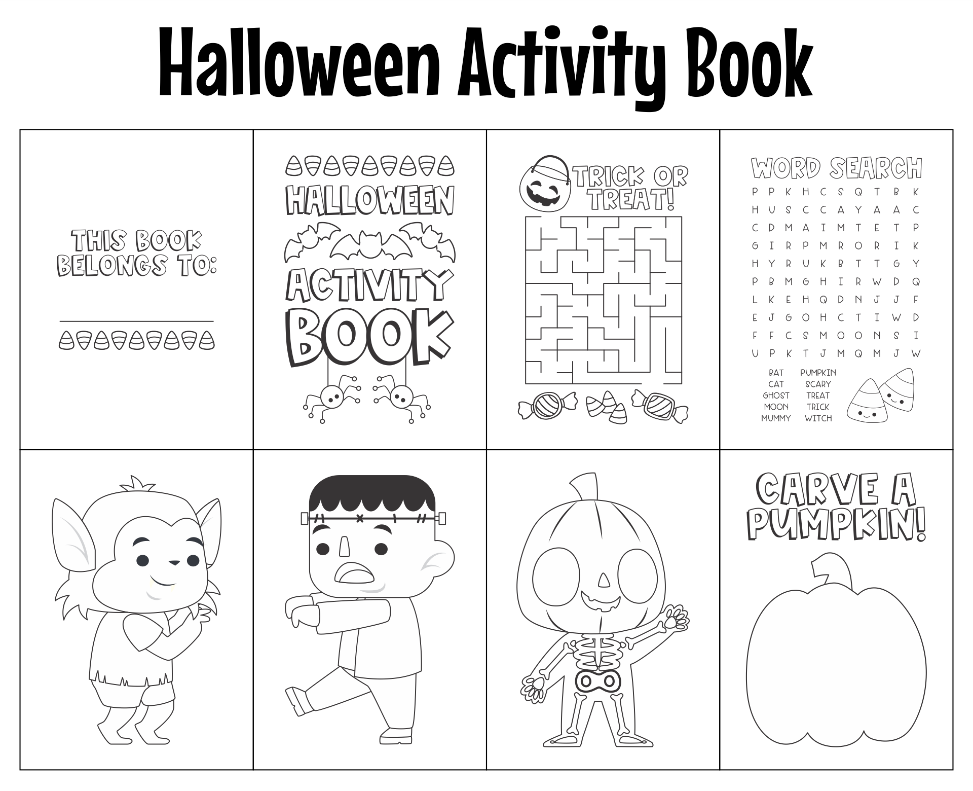 7 Images of Make Free Printable Halloween Book