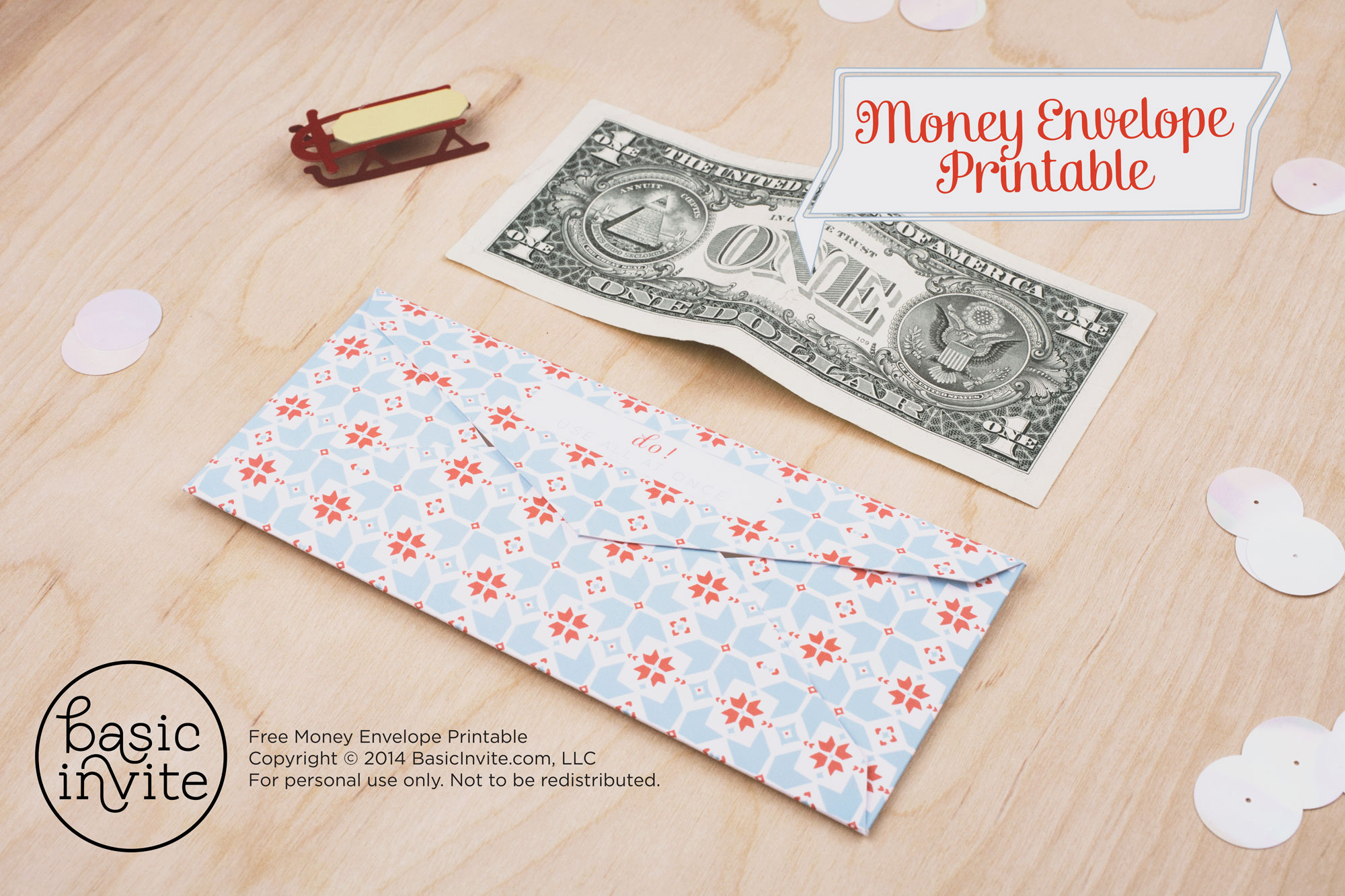 5 Images of Printable Money Envelopes