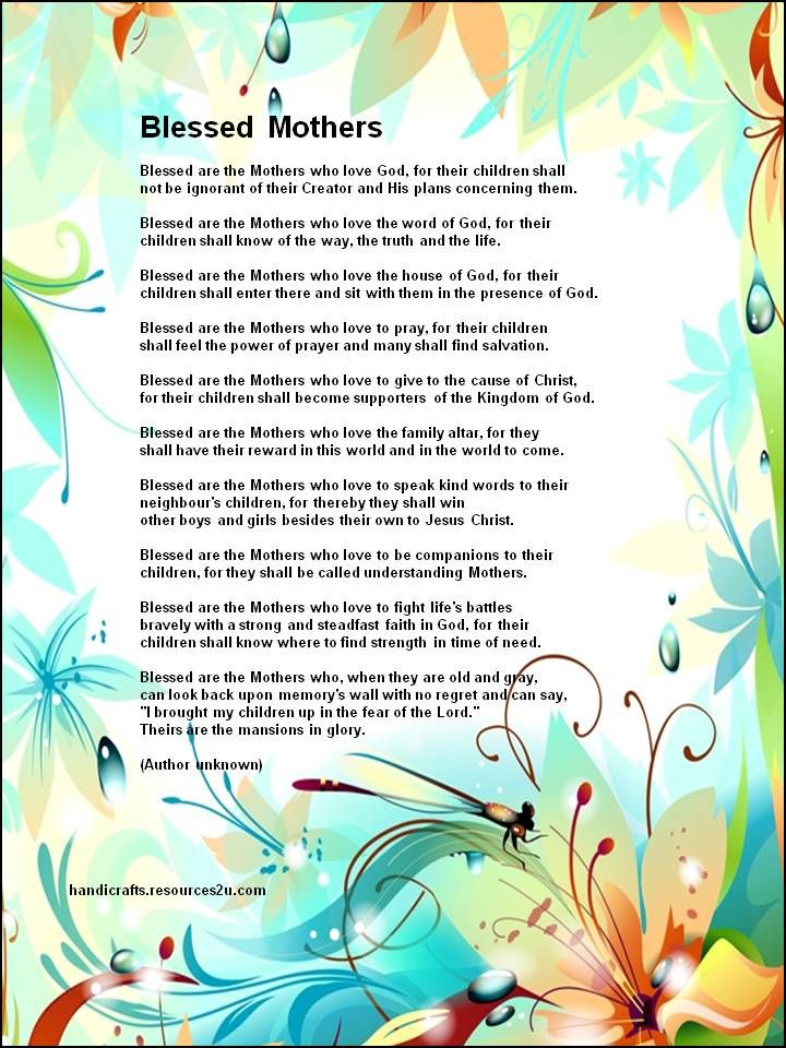 7 Images of Printable Christian Mother's Day Poems