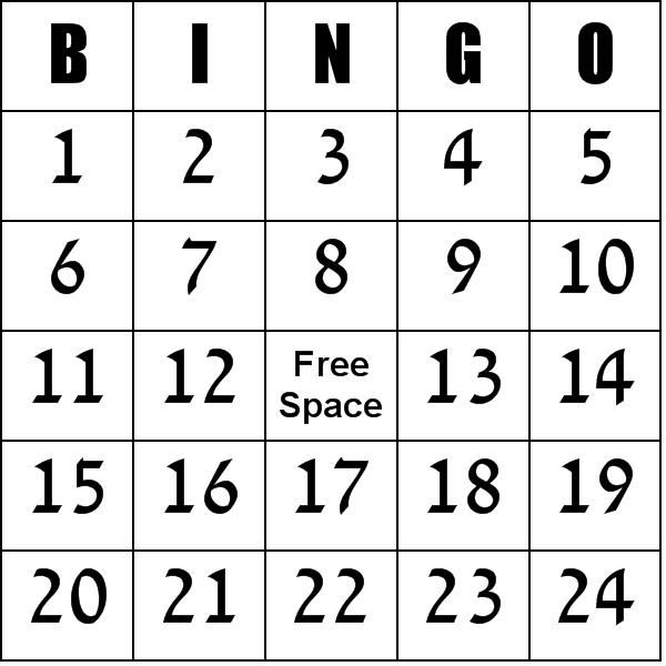 5 Images of Printable Bingo Numbers