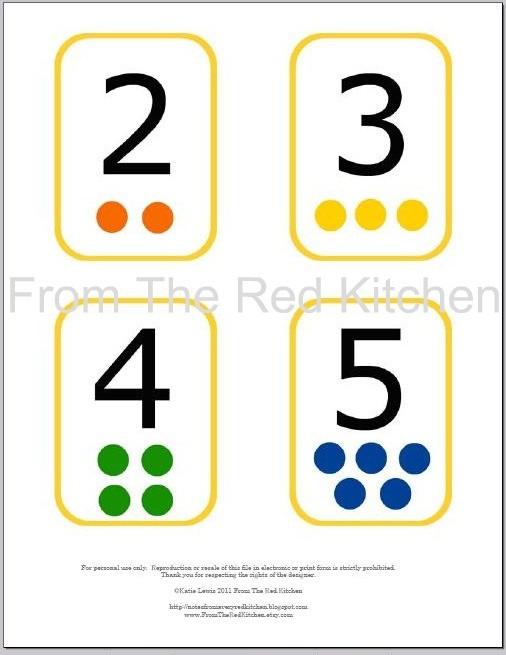 Number Cards 1-20, Printable Number Flash Cards 1 10 & Free Printable ...