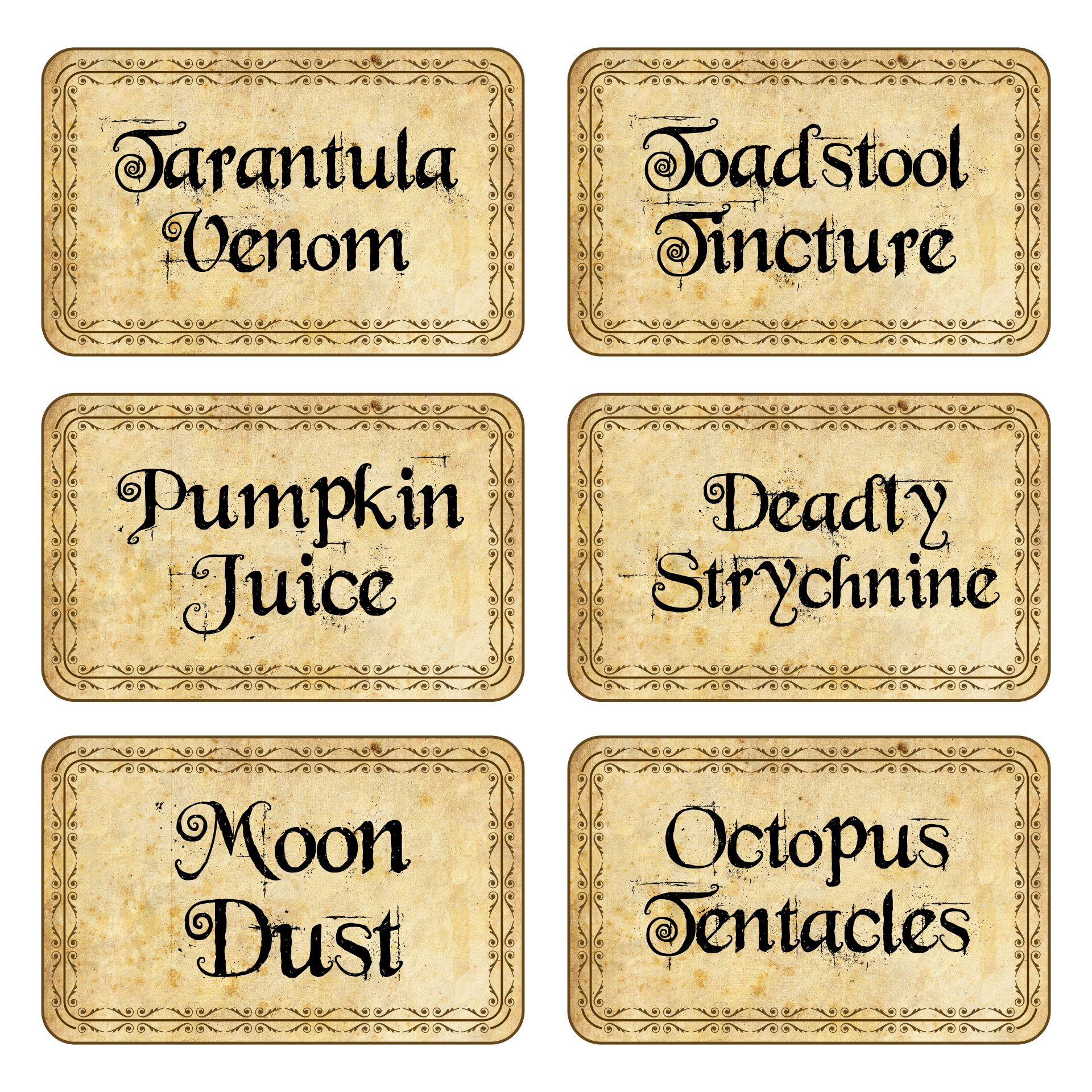 8 Images of Witches Potion Labels Free Printable