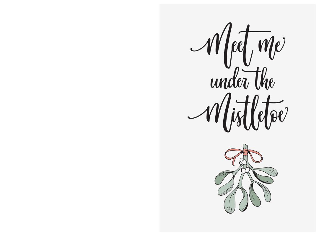 Printable Romantic Christmas Cards