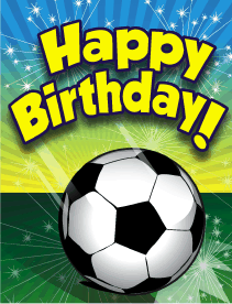 4 Images of Printable Soccer Birthday Cards