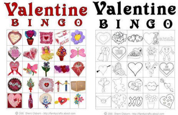 7 Images of Printable Valentine Bingo Game