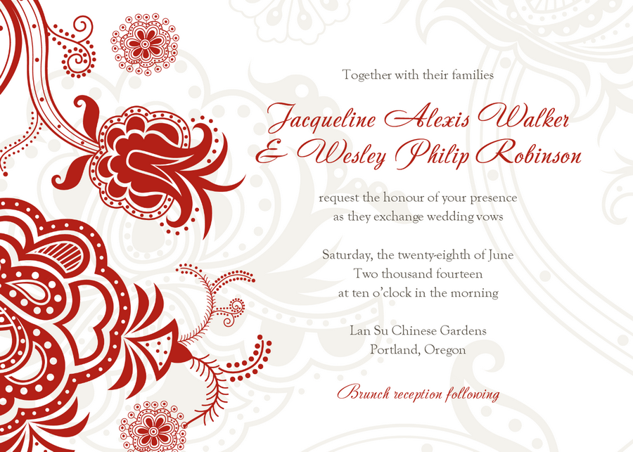 8 Images of Printable Wedding Invitations Designs