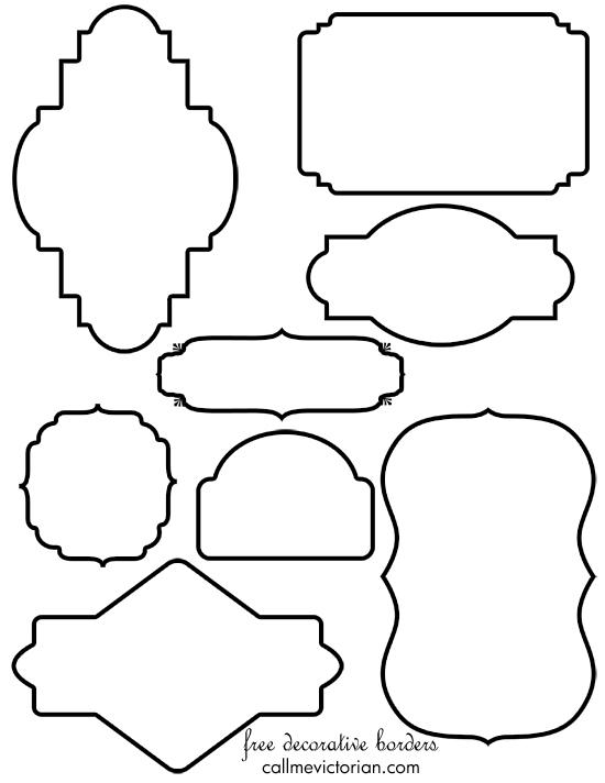6 Images of Frames Banner Printable