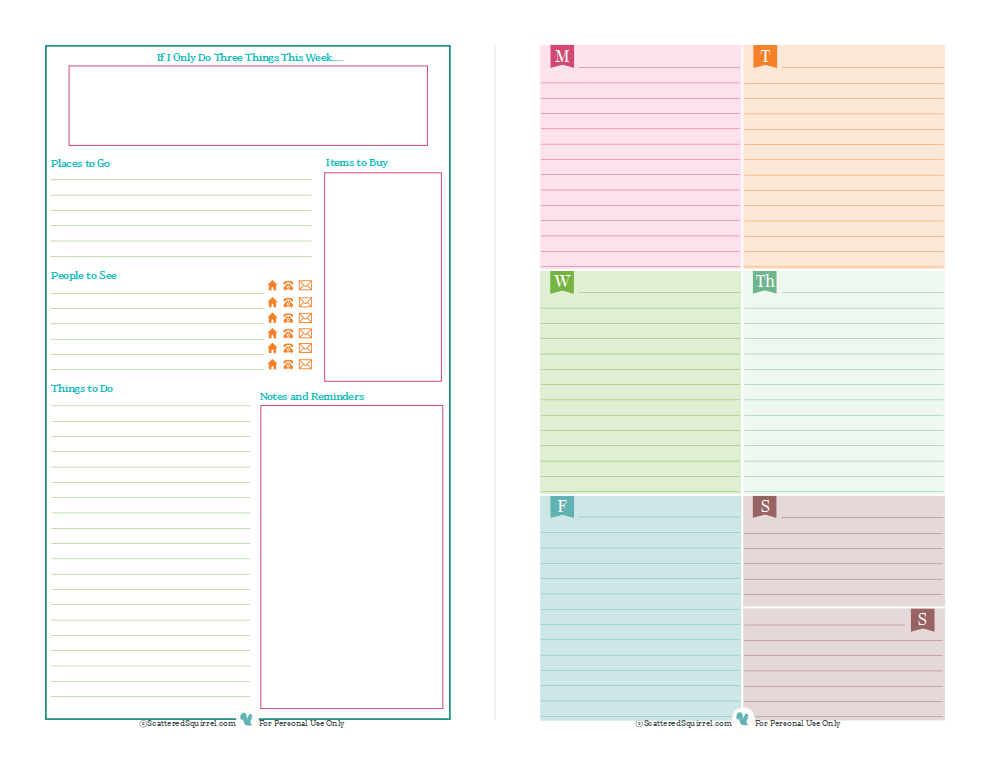 8 Images of Printable Mini Planner