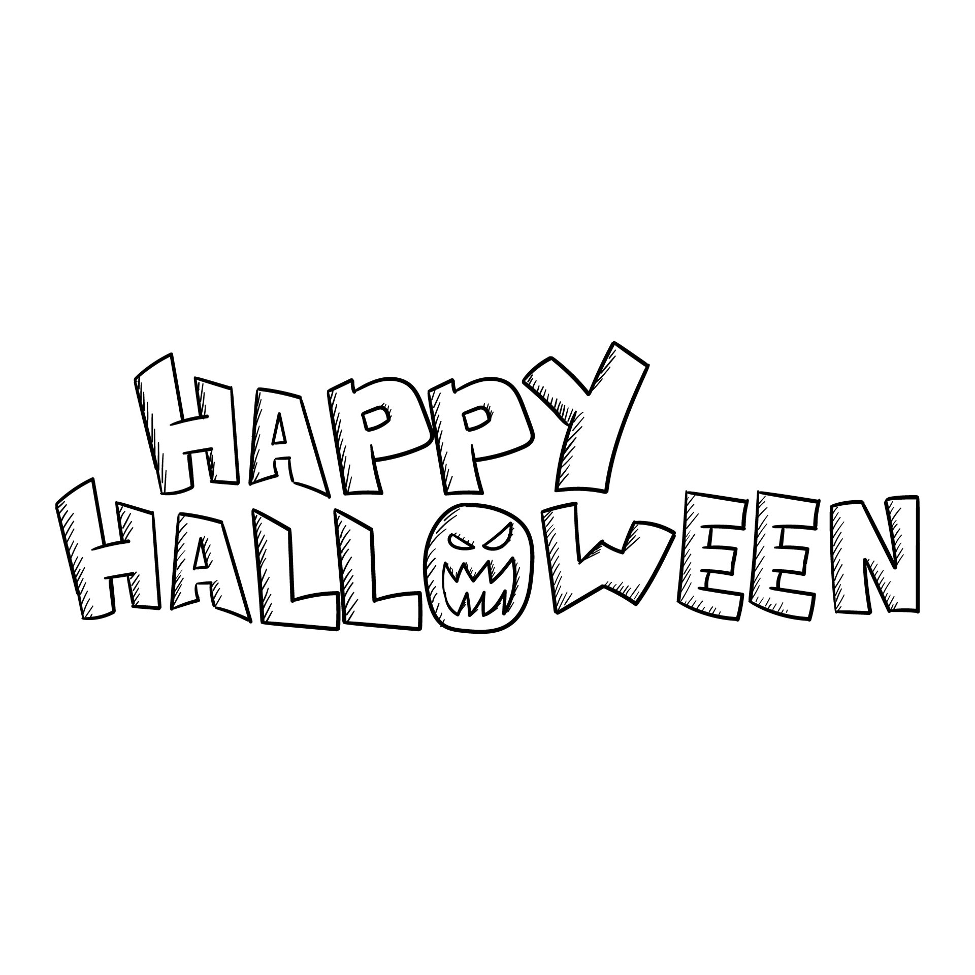 5 Images of Printable Coloring Happy Halloween Banner