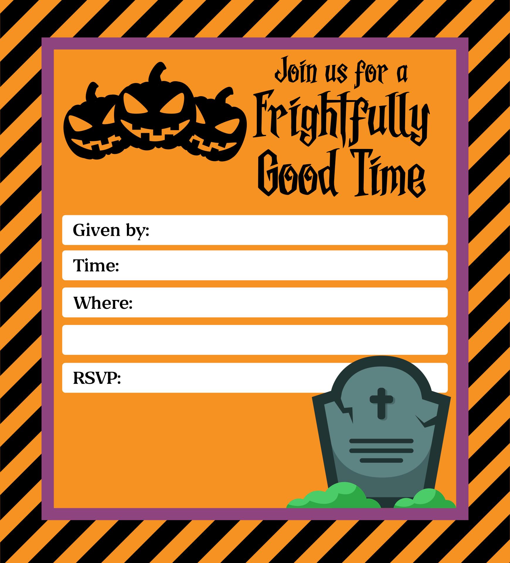 Halloween Invitation Template Microsoft Word