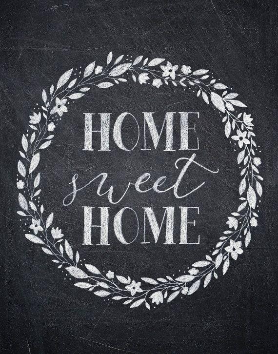 7 Images of Home Chalkboard Printables