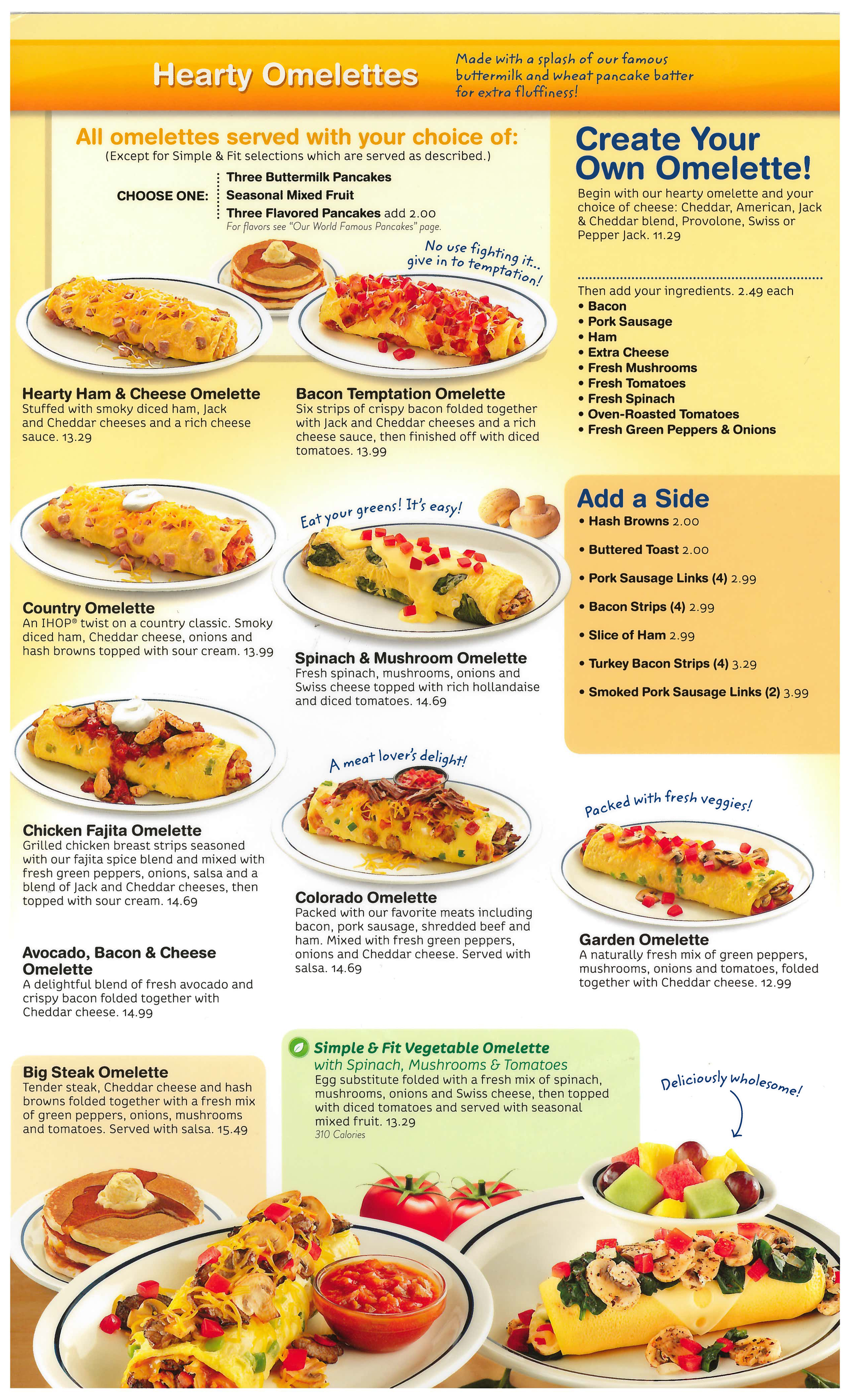 Ihop Menu with Prices