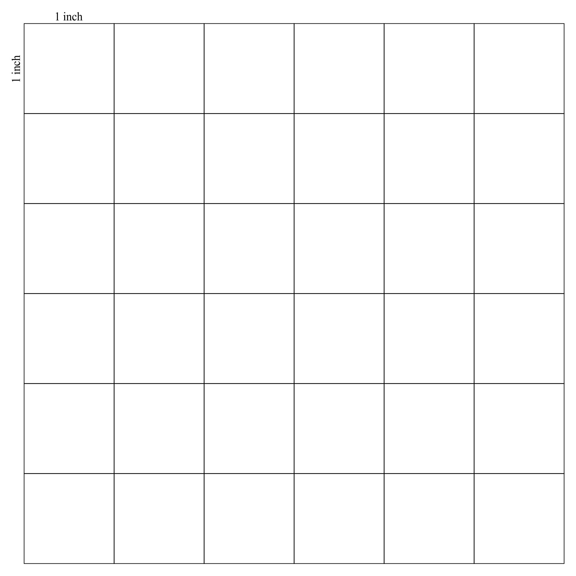 Inch Printable Grid Graph Paper