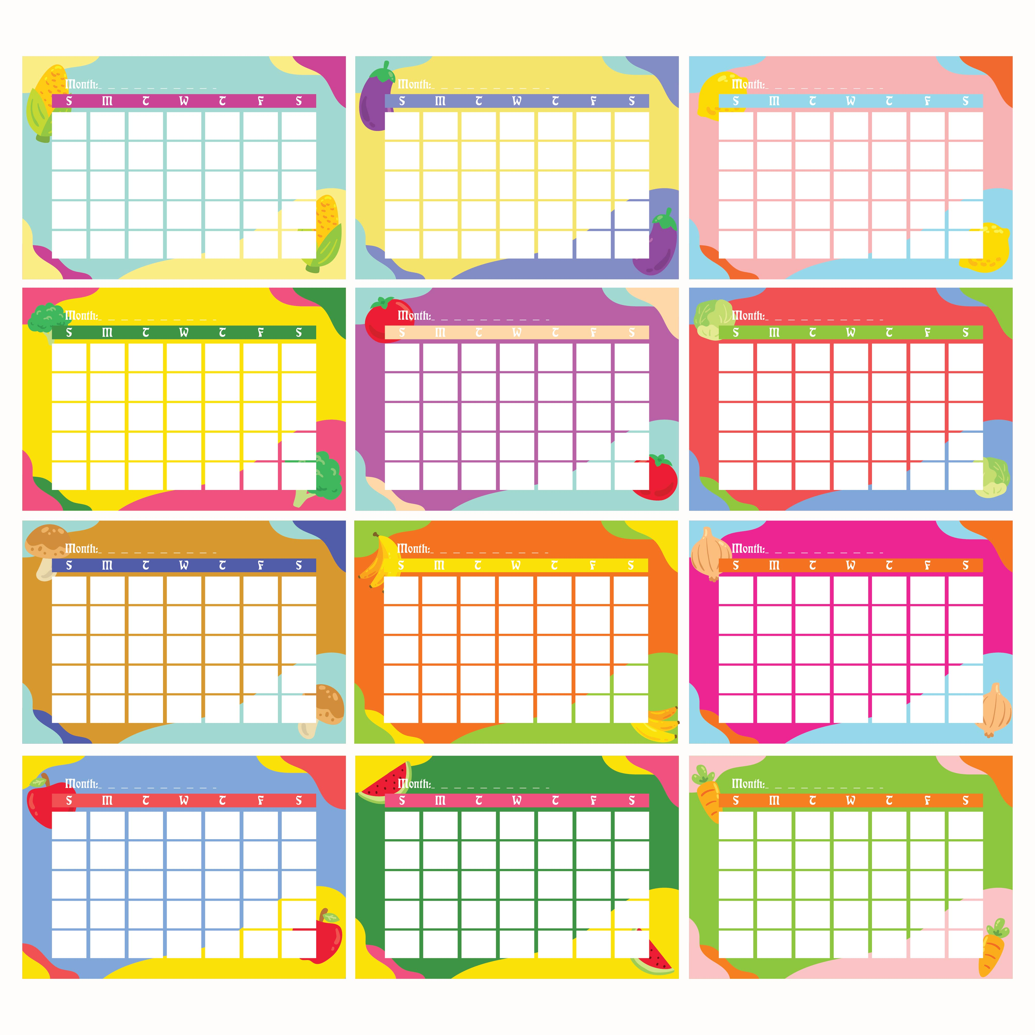 Calendar For Kindergarten Worksheets : Best images of kindergarten monthly calendar printable