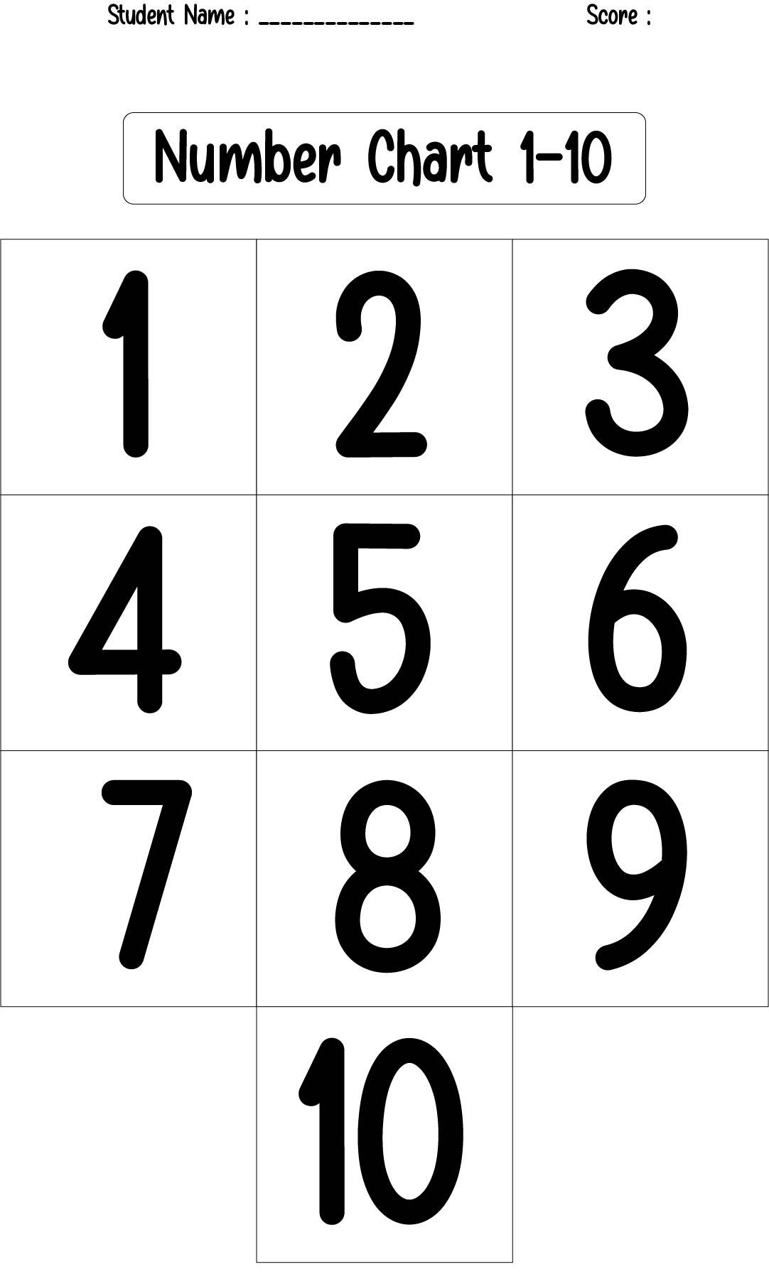 8 Best Numbers 1 10 Chart Preschool Printables ...
