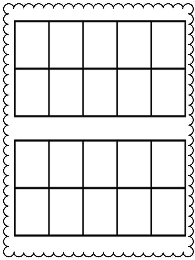 4 Best Images of Math Ten Frames Printable - Printable Ten ...