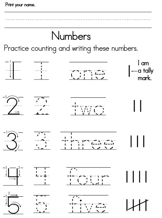 Free Number Writing Worksheets For Kindergarten - WorksheetsKindergarten Writing Number Words Worksheets