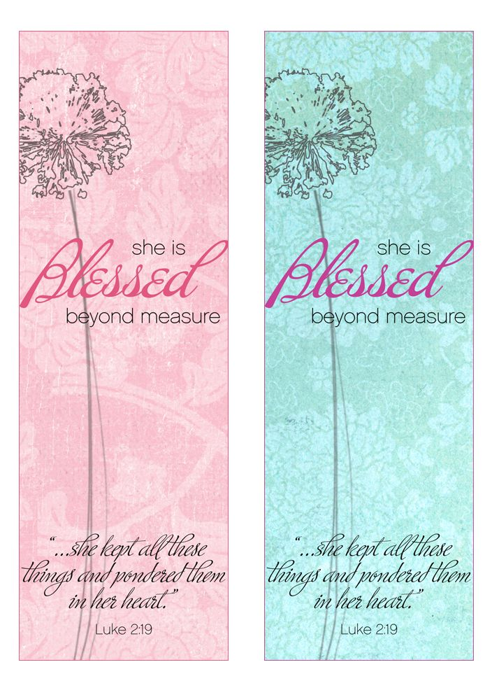 7 Images of Free Printable Christian Mother's Day Bookmarks