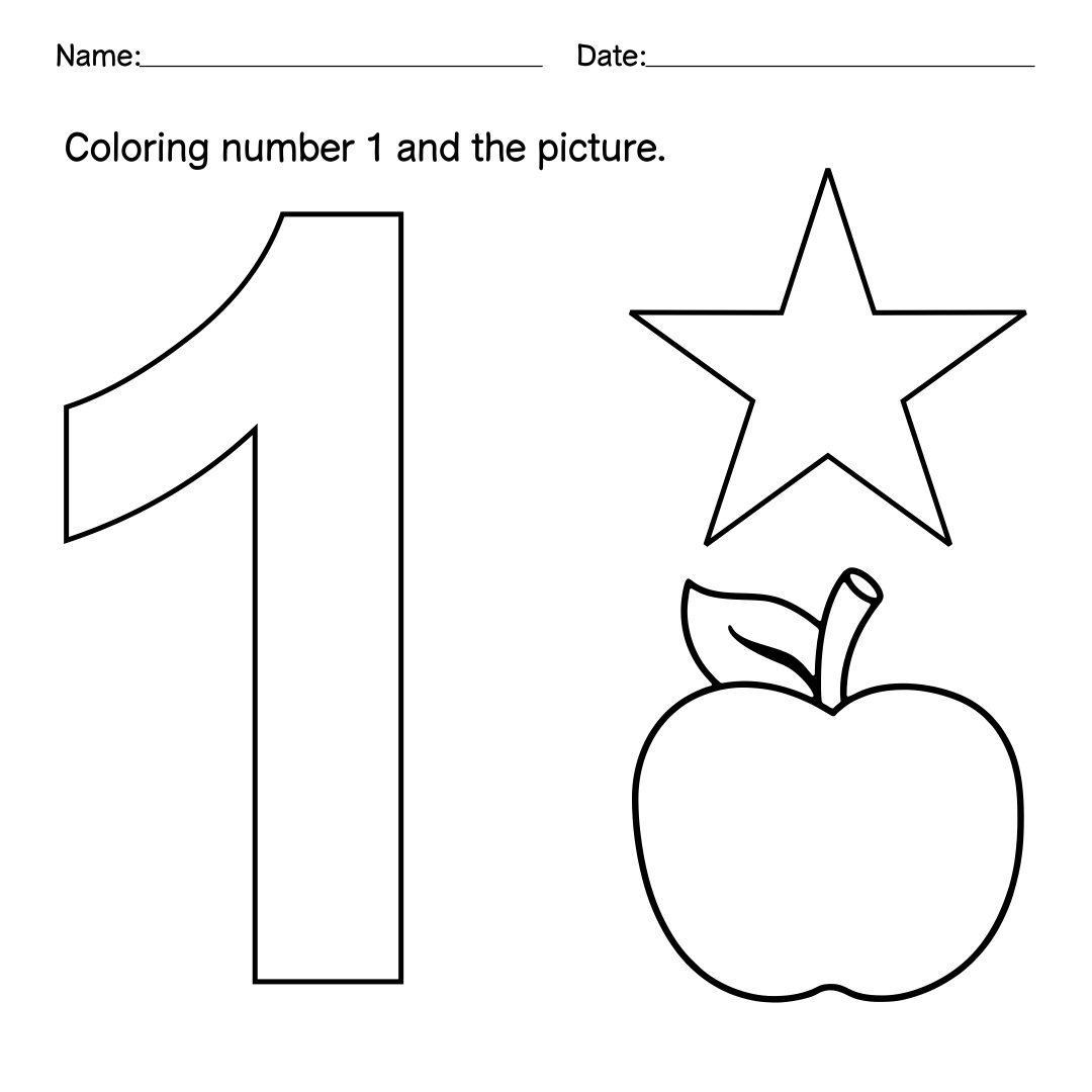 Number Preschool Worksheets : Best images of numbers chart preschool printables