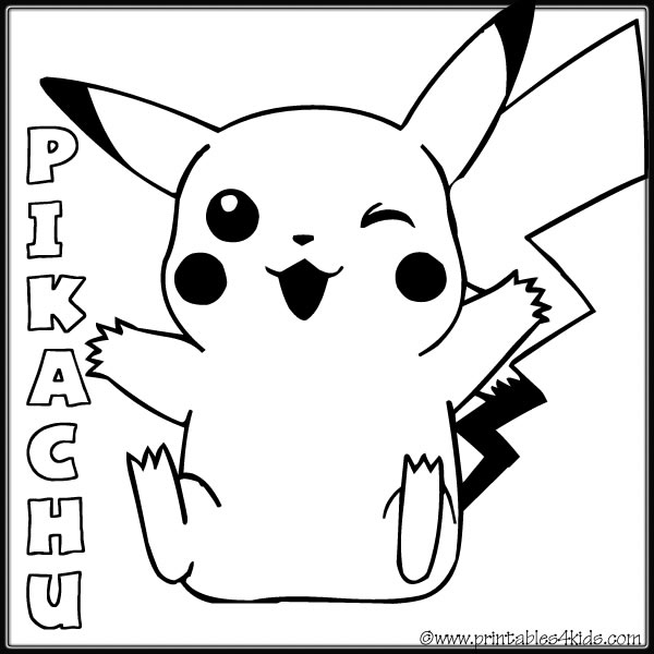 4 Images of Pokemon Coloring Pages Free Printable Word