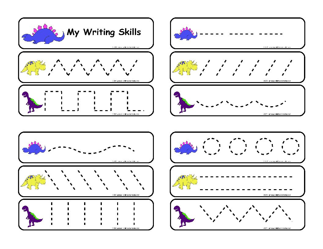 5 Images of Toddler Activity Writing Printable