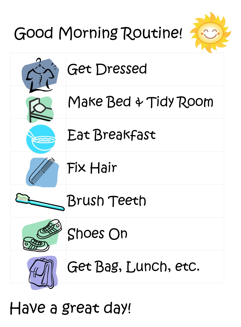 6 Images of Printable Preschool Visual Daily Schedule