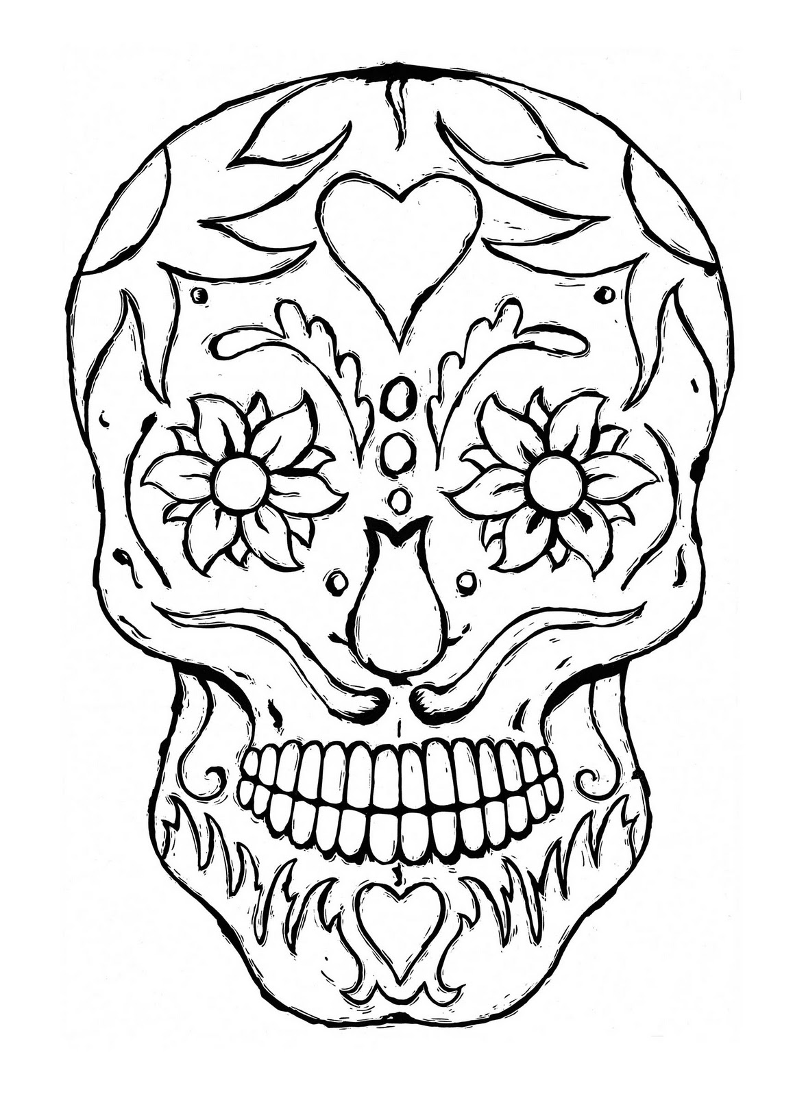 6 Images of Skull Printable Coloring Pages