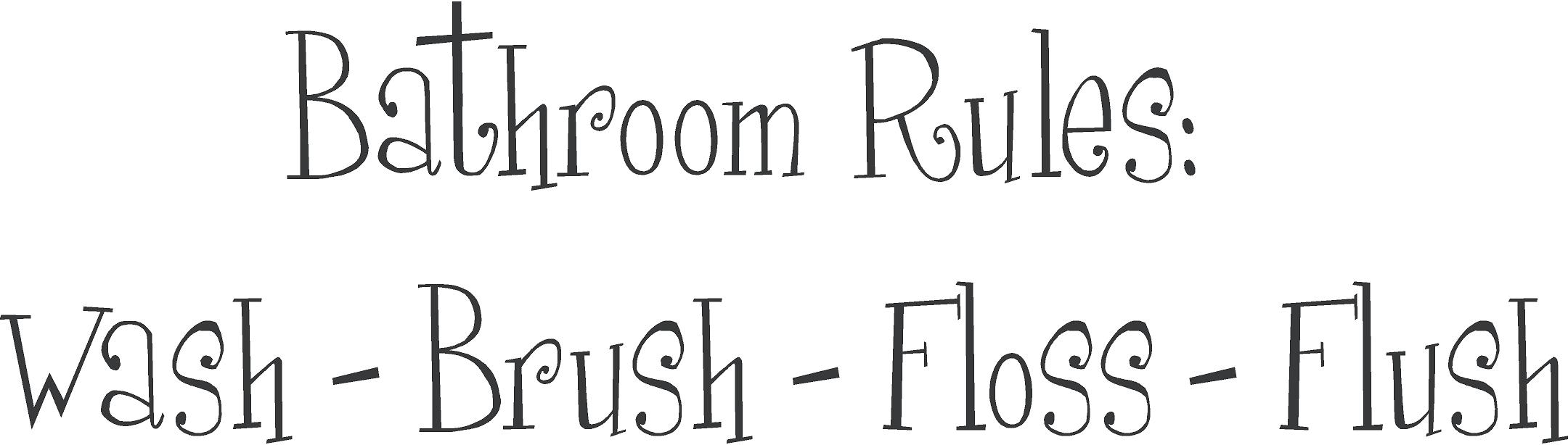 Printable Bathroom Wall Decals