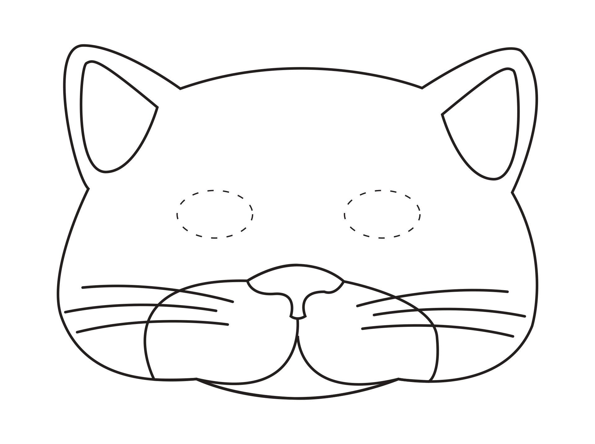 Printable Cat Mask Template