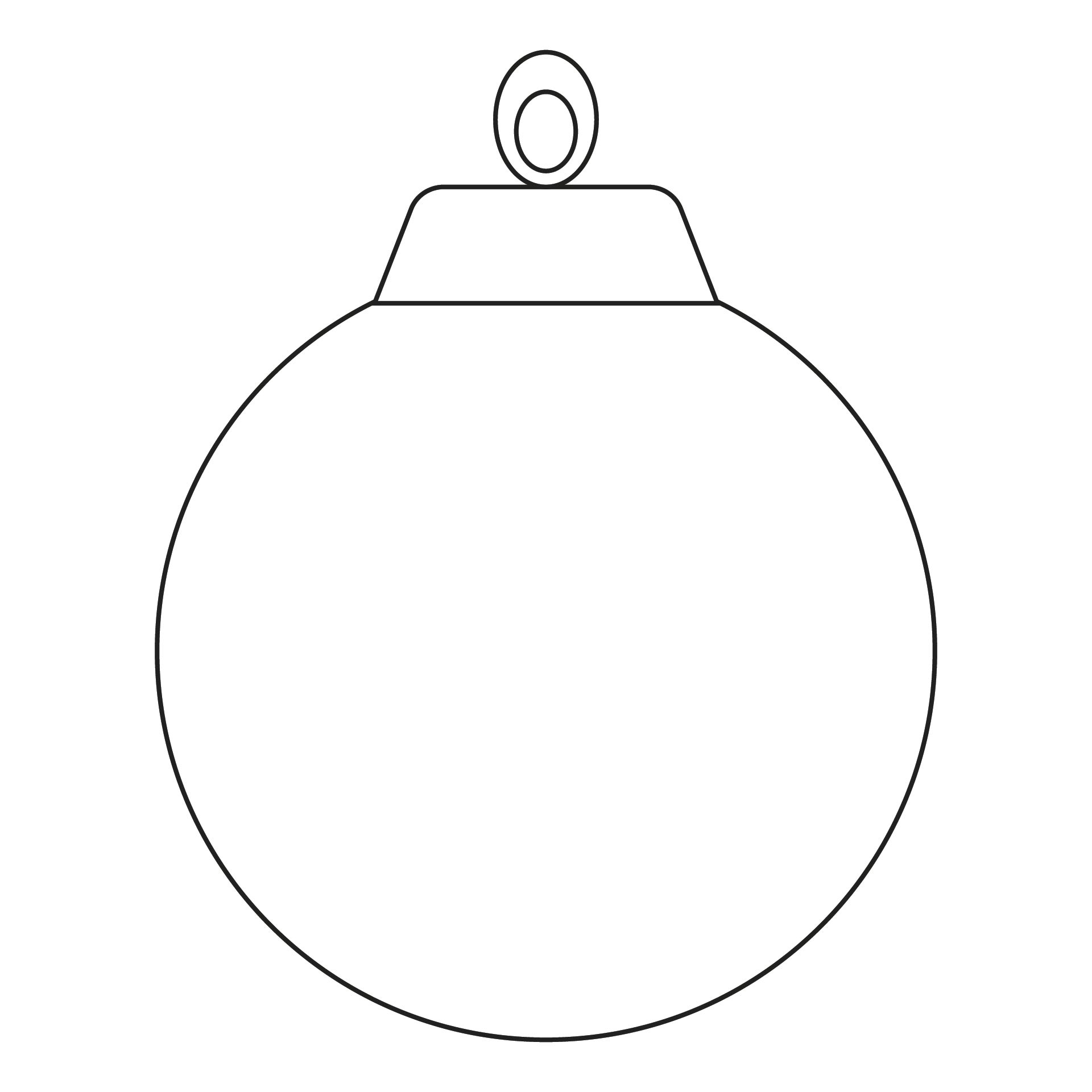 Best images of ornament printable template christmas