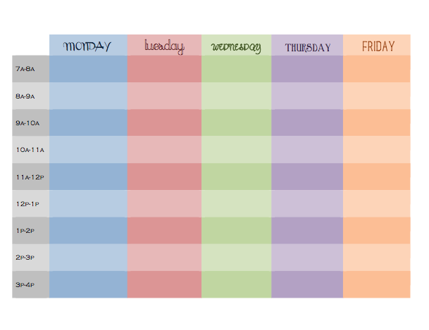 ... Hourly Weekly Planner Templates and Blank Weekly Schedule Calendar