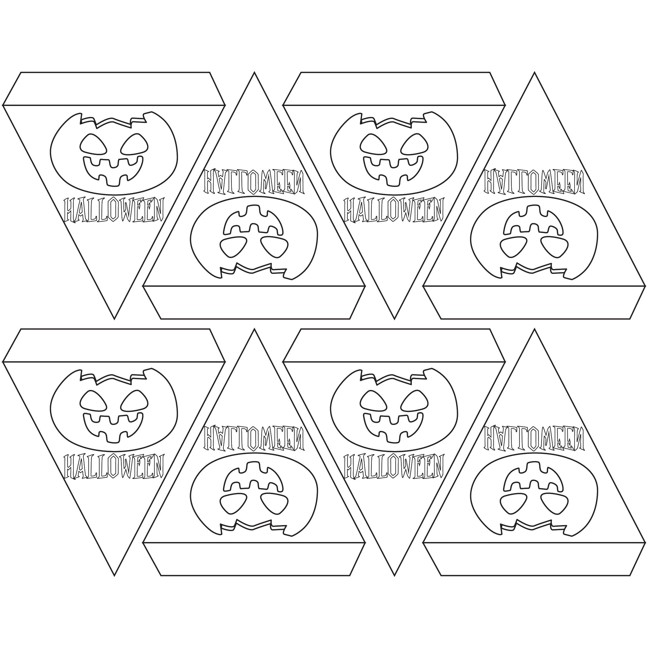 5 Best Images of Printable Coloring Happy Halloween Banner