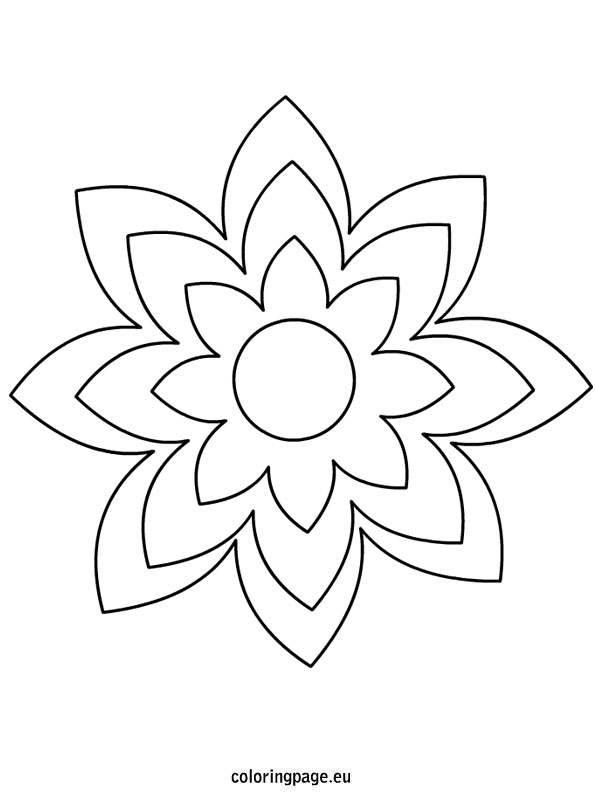 6 best images of large printable flower template
