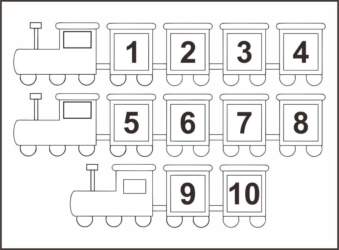 Printable Number Chart 1 10
