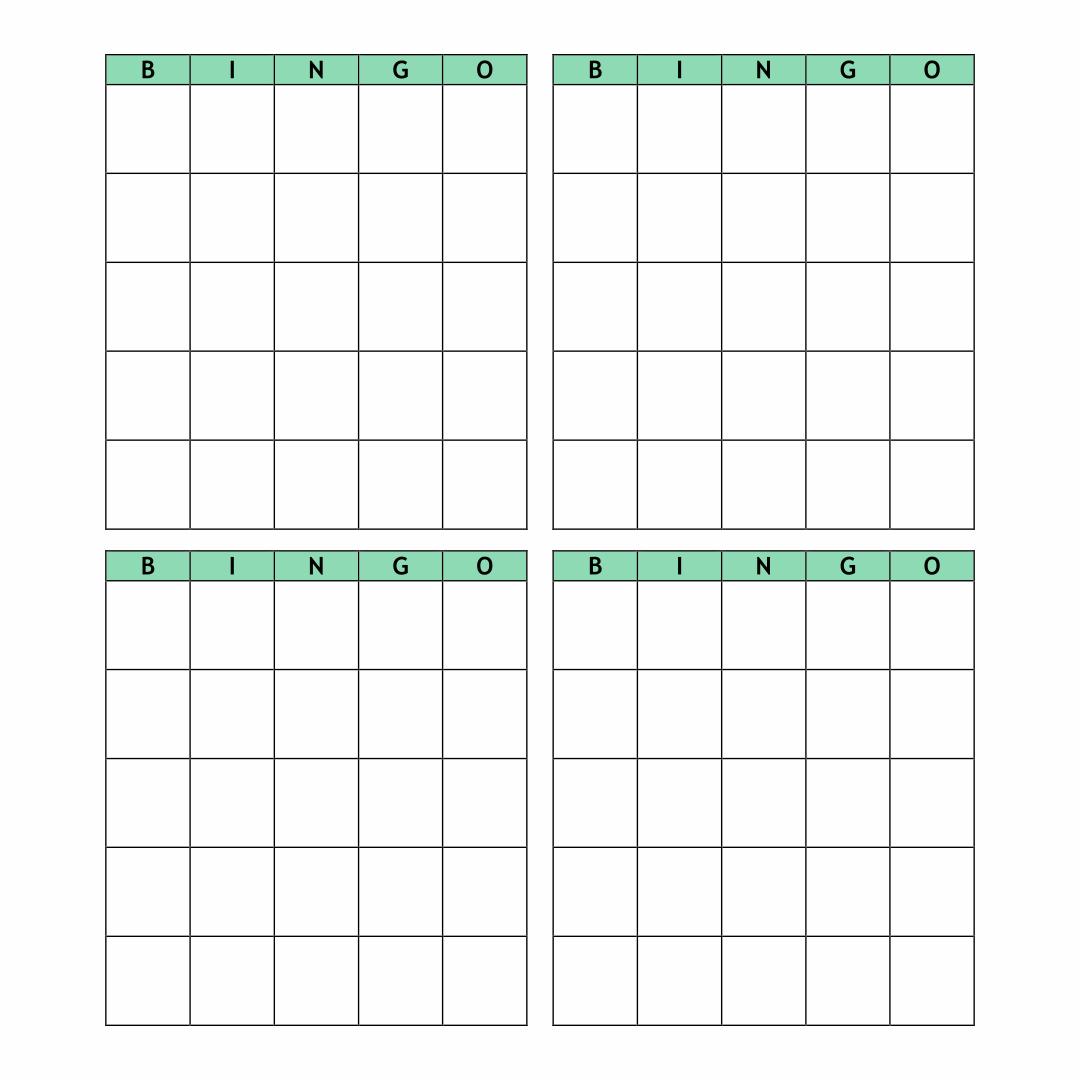 Printable Paper Bingo Sheets