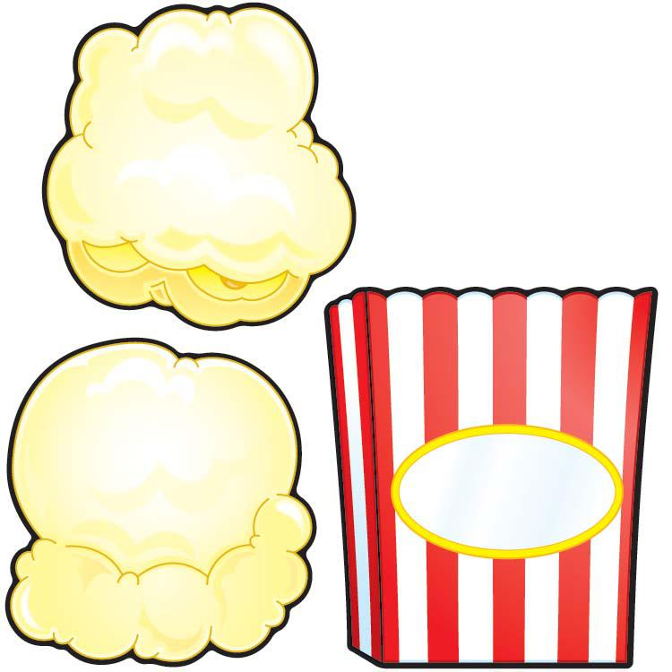 7 Images of Printable Popcorn Cutouts