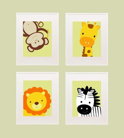 Printable Safari Nursery Wall Decor